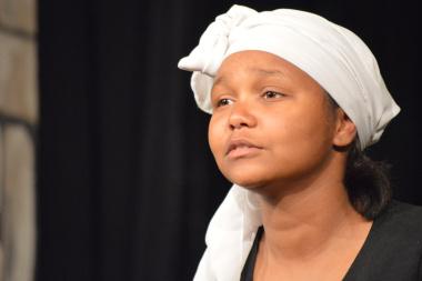 Victoria Williams of Kairos Drama group gave a heartfelt performance
