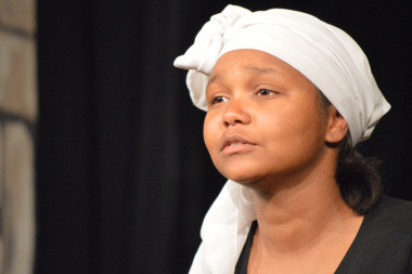 Victoria Williams of Kairos Drama group gave a heartfelt performance