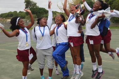 Victory Girls celebrate their triumph.