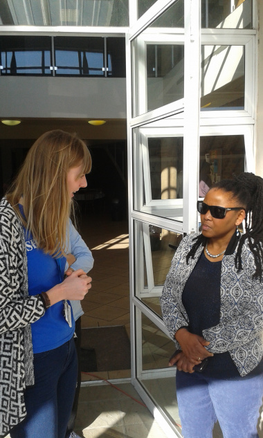 Minister Mbombo with Theresia Rubler from UCT