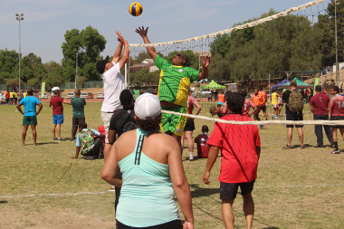 Volleyball was one of the most competitive sports on the day.