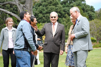 Minister Van Rensburg and Prince Charles Discuss Empowerment Farm Issues