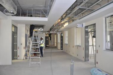 Ward renovations in progress.