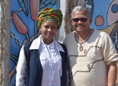 WCCC Cultural Councils Committee Chairperson Chuma Fani and Dr John Mobbs participated in the Heritage Day Celebrations in the West Coast
