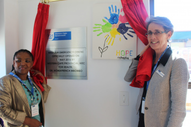 Western Cape Minister of Health, Dr Nomafrench Mbombo (left) and the Western Cape Government Head of Health, Dr Beth Engelbrecht officially opened the Wesfleur Emergency Centre today.