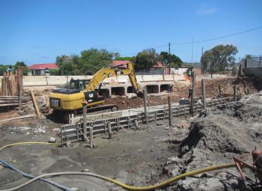 West half of Riverside culvert under construction