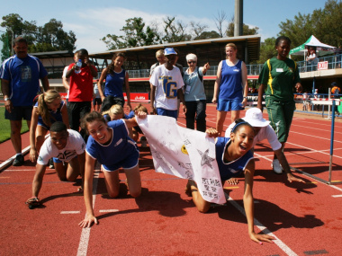 Western Cape athletes brought a lively atmosphere to the event.