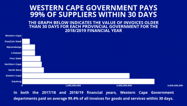 Western Cape Government Supplier Payment Record