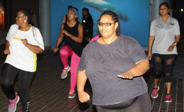 Western Cape Government staff and members of the public took part in a free, public aerobics session in the Iziko Museum on Wednesday.