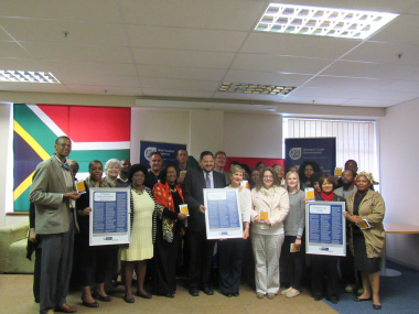 Western Cape Provincial Language Forum and framed Language Code of Conduct