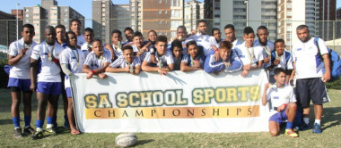 Western Cape Sport School rugby boys with their medals