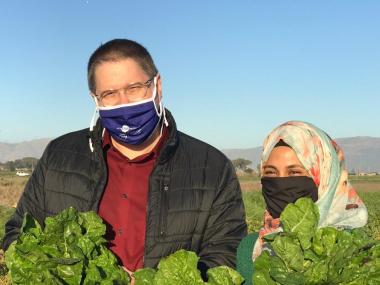 Minister Maynier visit Valota Farm