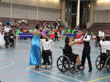 Participants at the dance trials.