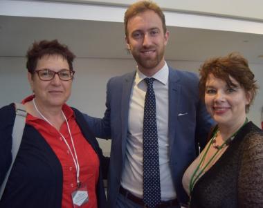Willem Molenaar (Netherlands Embassy) with SAMA President-to-be Regina Jansen van Vuuren and DCAS Dr Helene Vollgraaff