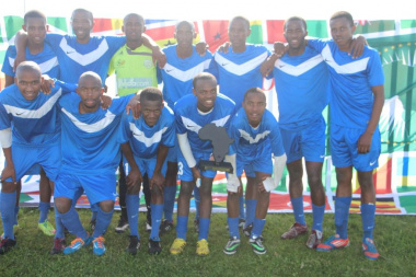 Winners of the day's events, team Mandela Park