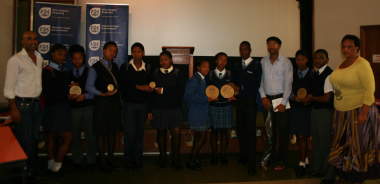 Winners of the Siyazingca Reading competition with DCAS staff and WCLC members.