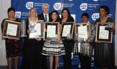 Minister Alan Winde with the winners of the 15th annual Female Entrepreneur Awards.