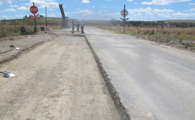 Work includes surface patching, base repairs and edge break repairs.