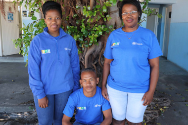 Yanelisa, Wilfred and Davidene proudly represent their respective cultural facilities while investing in themselves