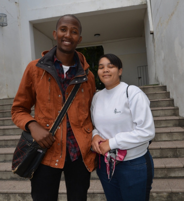 Yolisa Sambu and Daneline du Preez are looking forward to getting their learner's licences.