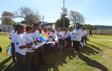 Youngsters ready for a day of fun-filled activities in Groot Brak