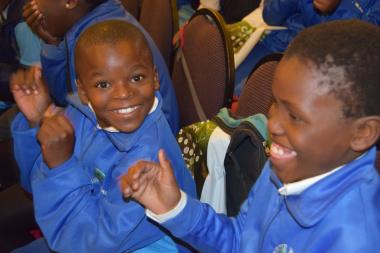 Youth enjoying the vibrant  marimba sounds