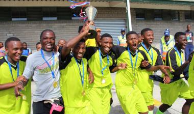 Zambia celebrates its victory.