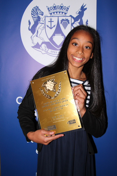 Zoe Julies won the junior sports woman of the year category