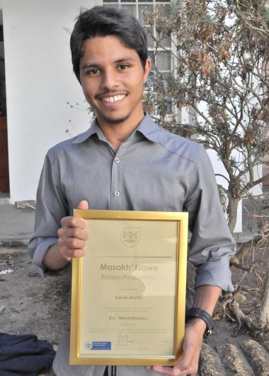 Zubair Martin - BSc Eng (mechatronics) student at UCT.