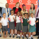 Gr. 1 and 2 Learners at New Orleans Primary in Paarl showing off their new spectacles