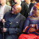 Archbishop Desmond Tutu and his daughter, Mpho at the unveiling