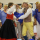 Cecilia Ervander and Anders Magnusson entertained everyone with a Swedish folk dance