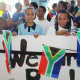 Children came together from all over Cape Town to bid the Paralympic athletes farewell on their journey