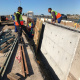 Concrete median barriers being reinstalled on the N2.