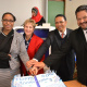 Director Nomaza Dingayo, Minister Marais, Finance Minister Dr Meyer and HOD Walters cutting the birthday cake