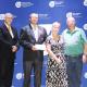 Eden Sport Council receiving their funding. From left: Dr Lyndon Bouah, David Speelman, Minister Anroux Marais and Dave van der Walt