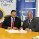 HOD of DCAS, Brent Walters, with CEO of Northlink College, Leon Beech signing the agreement.