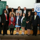 Dr Ivan Meyer with his staff members and bursary winners