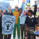 Kids were ecstatic when Paralympian Hilton Langenhoven entered the airport