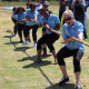 Ladies from Statistics South Africa participating in tug-of-war.