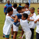 Learning basic kickboxing moves kept children entertained