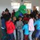 Library mascot Bhuki entertains the children