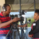 Dr. Mbombo during an interview with ANN7 at the 10th Annual Sport Legends Award Ceremony in Paarl