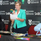 Minister Anroux Marais during her address at the Boxing Extravaganza Press Conference.