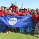Minister Anroux Marais with Team DCAS who won netball, Fun Walk and Fun Run at the Overberg BTG