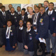 Minister Anroux Marais and DCAS HOD Walters with Grade 12 learners from the Simon's Town High School at the launch of the SS Mendi exhibtion