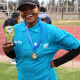Nozi Xungu from the Department of Health was the first female to finish the Cape Winelands BTG 6km fun-run in Paarl