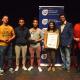 Overall winners Team Determine with adjudicators