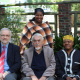 Speakers Prof Henkel, Prof De Villiers and Dr Qubuda with Museum Manager Dubula