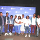 The cast of festival winners 'African Calling', pictured with Breede Valley Councillor Joffrey Jack